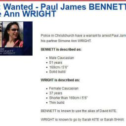 Wanted- Serial fraudsters Mr Paul James Bennett and his wife Sarah / Simone Williams - Private investigators 													Auckland -